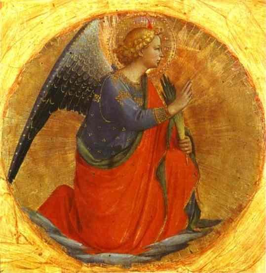 Perugia Triptych Angel of the Annunciation Fra Angelico