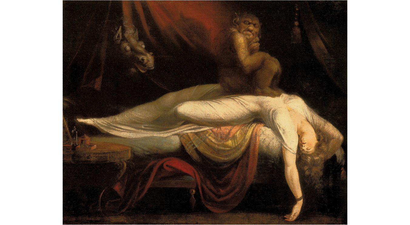 iconography in the nightmare by john henry fuseli The life and writings of henry fuseli, edited by john knowles (3 vols, 1831), is valuable by far the best introduction in english is eudo c mason, the mind of henry fuseli: selections from his writings (1951), a brilliantly annotated selection of fuseli's major writings with an introductory study by mason.