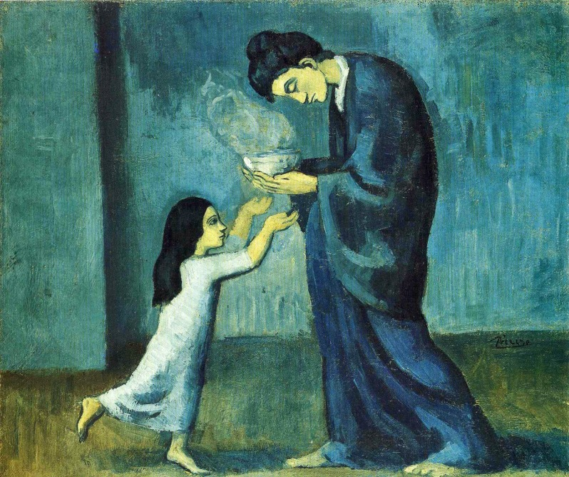 Pablo Picasso, 1902-03, La soupe (The soup), oil on canvas, 38.5 x 46.0 cm, Art Gallery of Ontario, Toronto, Canada.