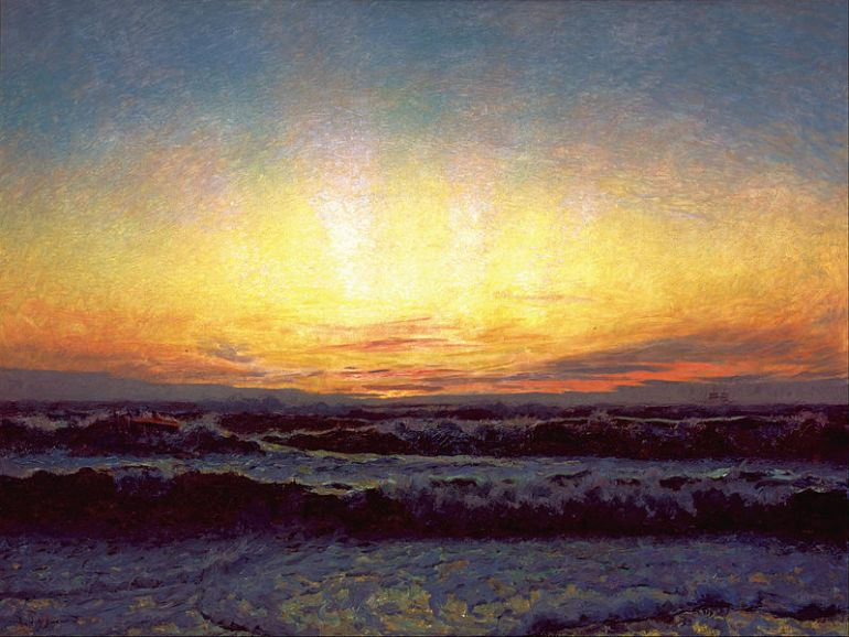 Laurits_Tuxen_-_The_North_Sea_in_stormy_weather._After_sunset._Højen_-_Google_Art_Project