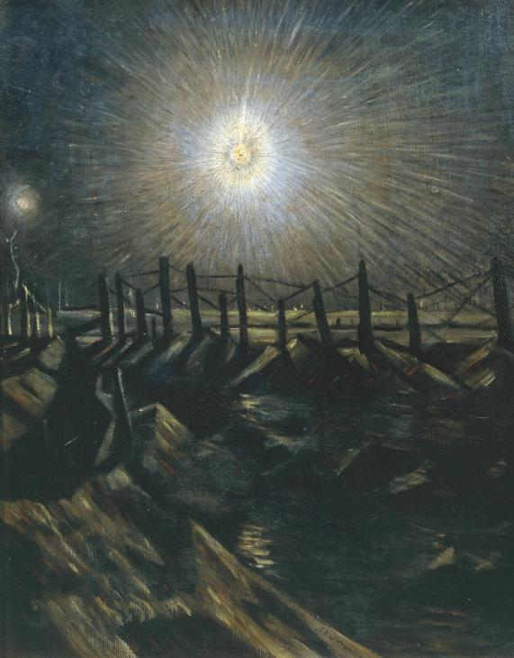 A Star Shell exhibited 1916 by Christopher Richard Wynne Nevinson 1889-1946