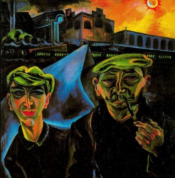 Conrad-Felixmuller--La-sortie-de-l-usine--1920-s