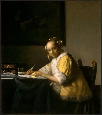 a-lady-writing