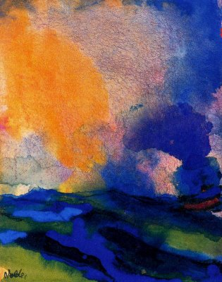 nolde_-_blue_green_sea_with_steamer_