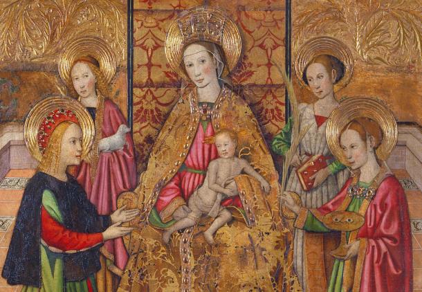 Virgen y santos - detalle